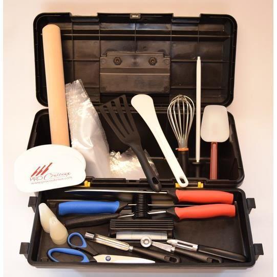 mallette de couteaux professionnels de cuisine pour cfa et lycee hotelier 23 pieces mallette. Black Bedroom Furniture Sets. Home Design Ideas