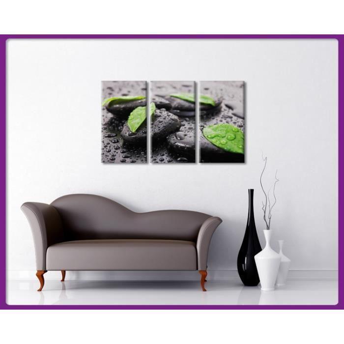 Bilderdepot24 impression sur toile gouttes d 39 eau et for Achat cailloux decoration