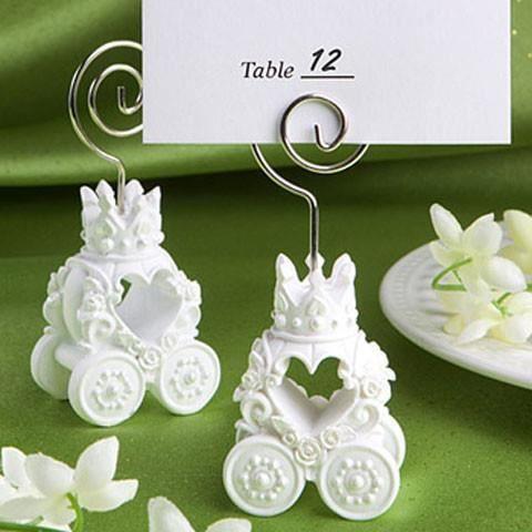 Marque place carrosse d coration table mariage lot de 5 for Decoration porte nom table