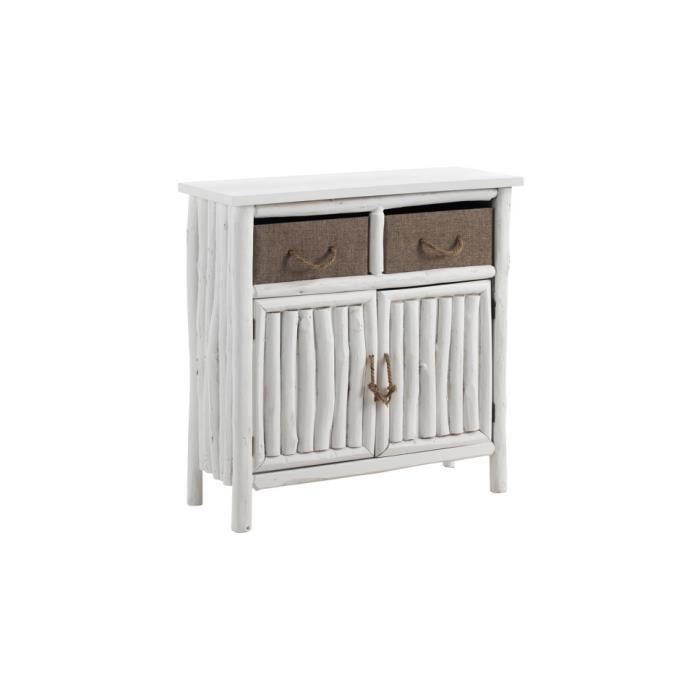 commode blanche 2 portes