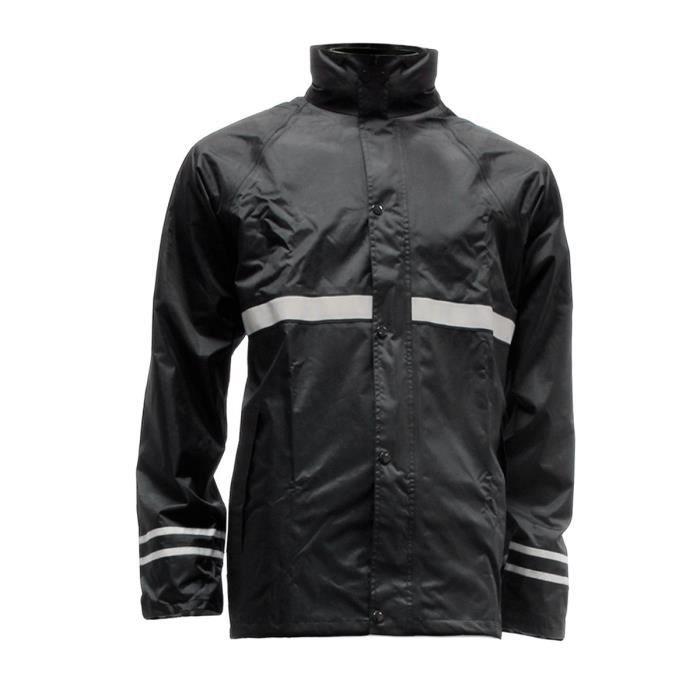 veste de pluie moto et scooter avec bandes reflechissantes taille m 46 48 achat vente. Black Bedroom Furniture Sets. Home Design Ideas