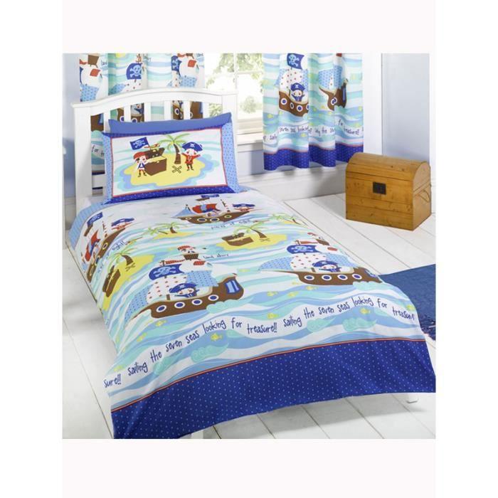 Parure de lit junior pirates achat vente housse de couette - Cdiscount parure de lit ...