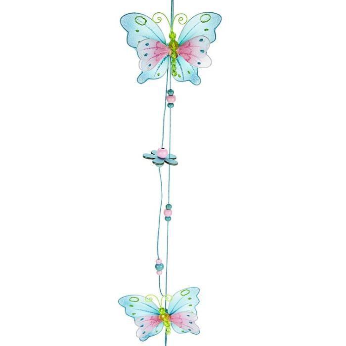 magnifique mobile suspendu color avec papillon achat. Black Bedroom Furniture Sets. Home Design Ideas