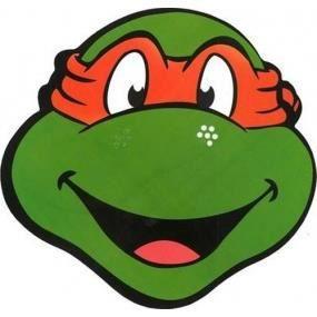 masque dcor visage masque en carton michelangelo tortues ninja
