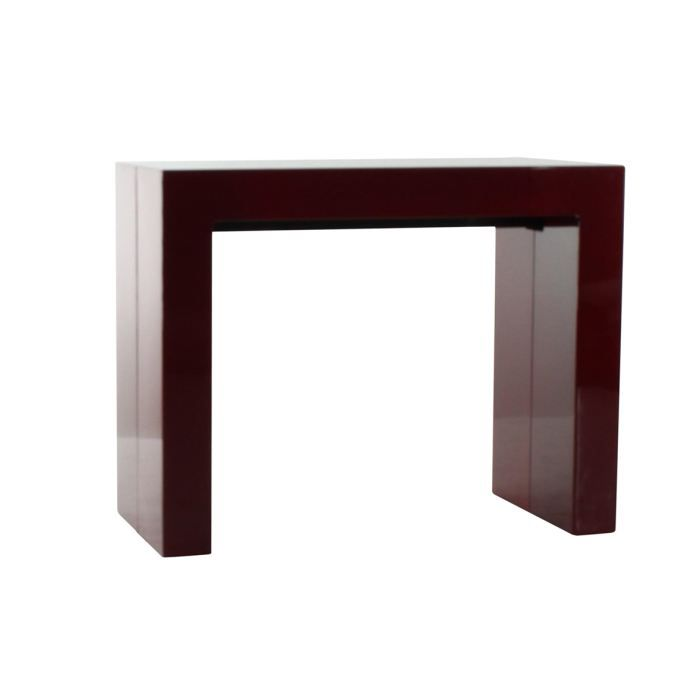 console extensible rouge marisa achat vente console consol extensible rouge marisa cdiscount. Black Bedroom Furniture Sets. Home Design Ideas