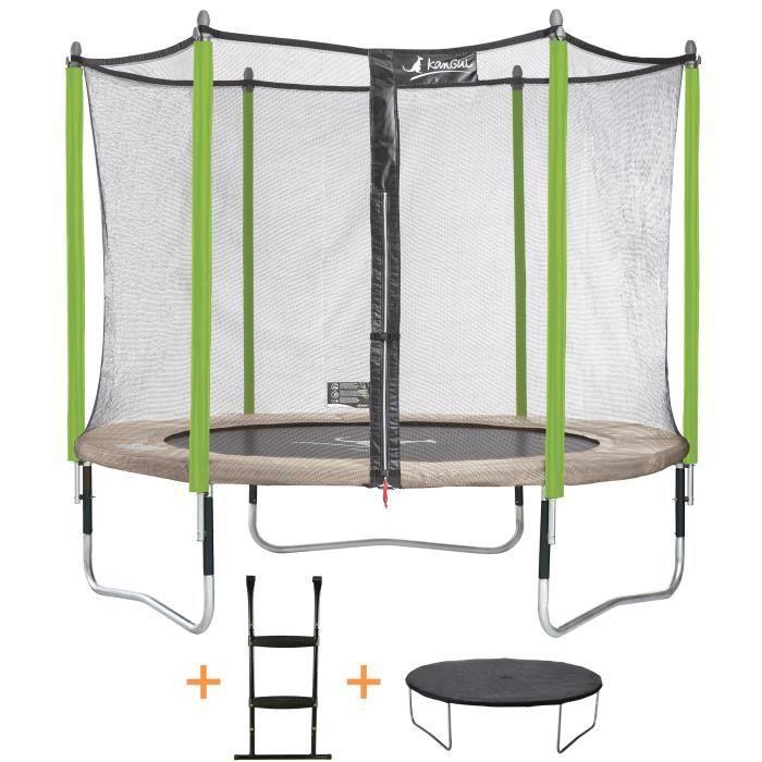 kangui trampoline de jardin 305 cm filet de s curit chelle b che de protection jumpi. Black Bedroom Furniture Sets. Home Design Ideas