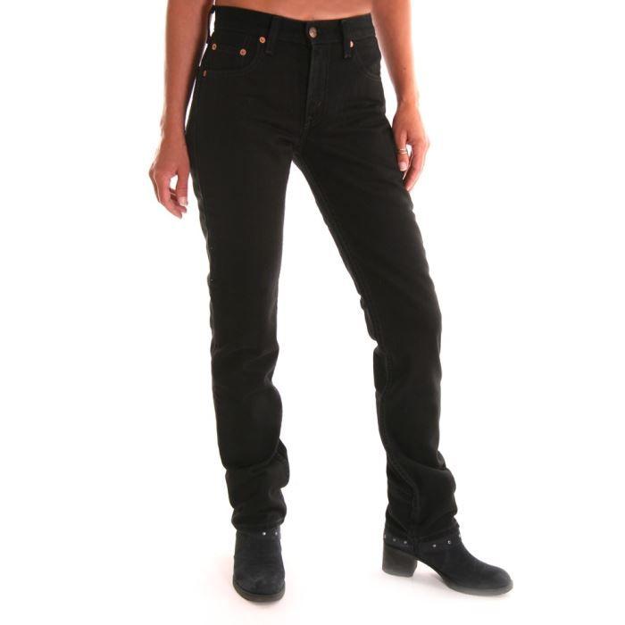jeans femme levis 595 noir taill noir achat vente. Black Bedroom Furniture Sets. Home Design Ideas