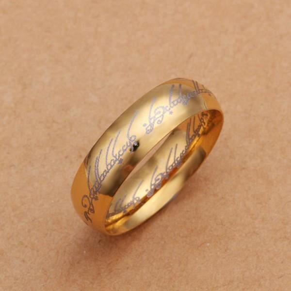 Bague seigneur des anneaux dorée doré - Achat / Vente bague - anneau ...