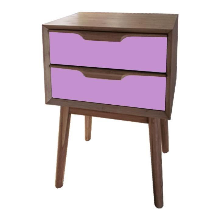 chevet rose 2 tiroirs en bois lagan achat vente chevet chevet rose 2 tiroirs en bo bois. Black Bedroom Furniture Sets. Home Design Ideas