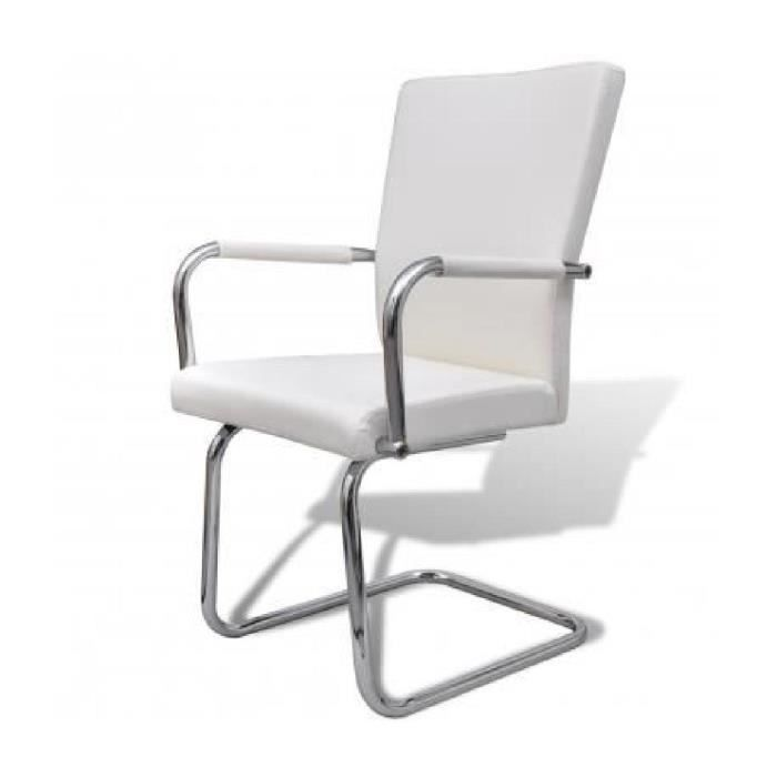 Vidaxl ensemble de 2 chaises salle manger blanc achat vente chaise blanc cadeaux de - Ensemble tafel et chaise salle a trog ...