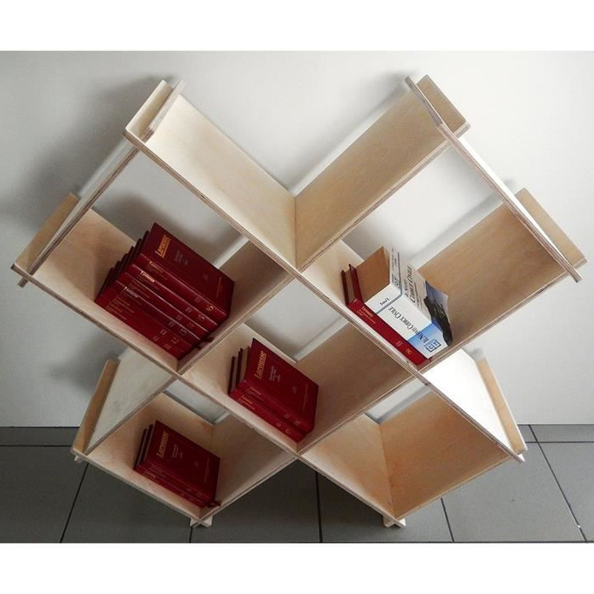 biblioth que pr sentoir en multicouche de bouleau achat vente meuble classement biblioth que. Black Bedroom Furniture Sets. Home Design Ideas