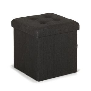 Pouff coffre gris achat vente pouff coffre gris pas cher cdiscount - Pouf gris anthracite ...