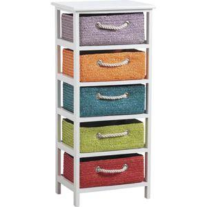 meuble avec tiroir en osier achat vente meuble avec tiroir en osier pas cher cdiscount. Black Bedroom Furniture Sets. Home Design Ideas