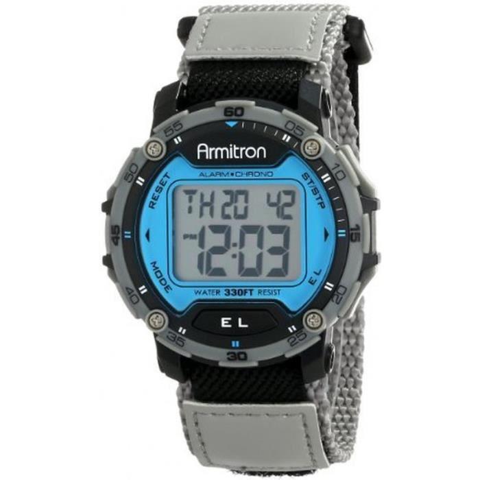 armitron sport 40 8291blgy montre homme digitale bracelet nylon sport achat vente montre. Black Bedroom Furniture Sets. Home Design Ideas