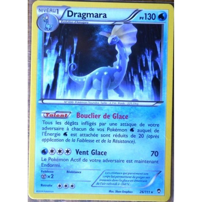 Carte pok mon 26 111 dragmara 130 pv rare xy03 xy poings - Photo de pokemon rare ...