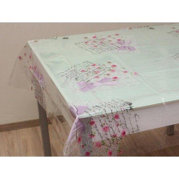 nappe cristal transparente rectangulaire 140x240 cm. Black Bedroom Furniture Sets. Home Design Ideas