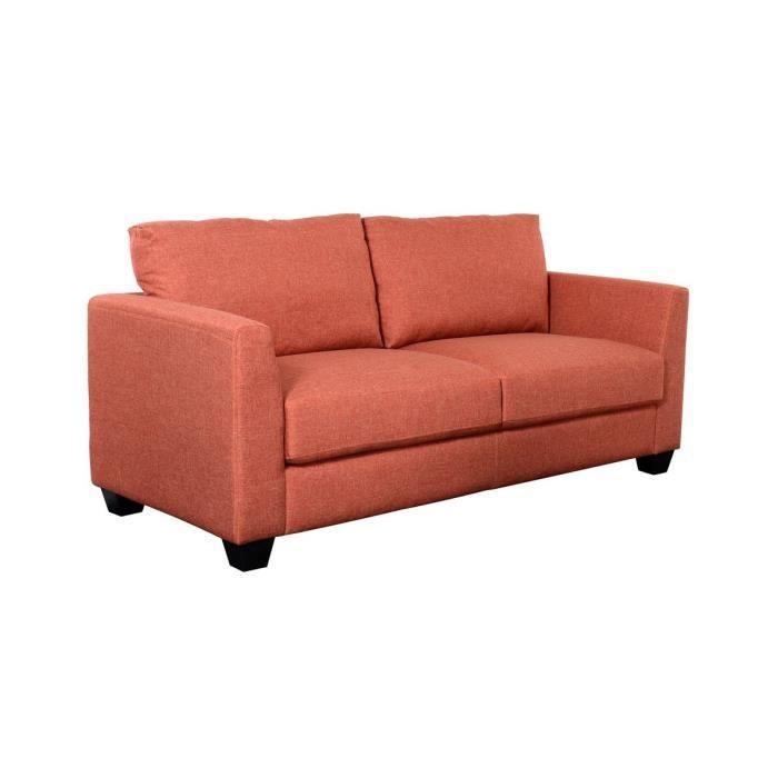 Toulon canap 2 places rouge achat vente canap sofa divan cdiscount - Canape 2 places rouge ...