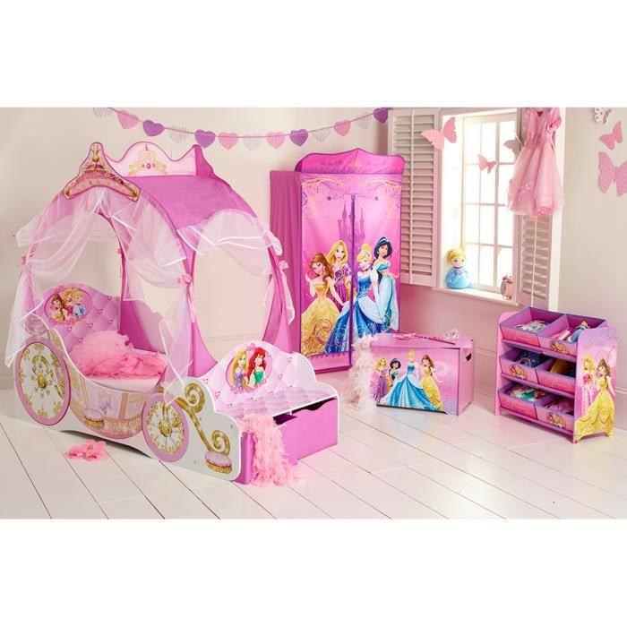 chambre disney princesses avec lit carrosse achat vente chambre compl te b b 2009942837369. Black Bedroom Furniture Sets. Home Design Ideas