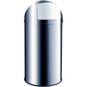Helit poubelle avec clapet push 50 litres gris achat - Poubelle automatique 50 litres ...