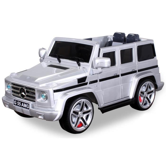 voiture lectrique pour enfants mercedes benz amg g55 argent achat vente voiture enfant. Black Bedroom Furniture Sets. Home Design Ideas
