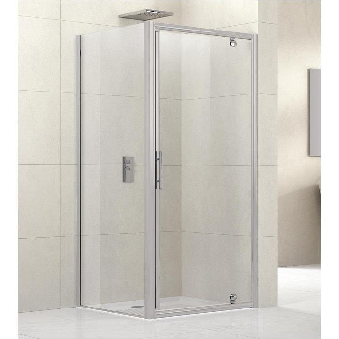 Porte de douche pivotante lunes g 90cm transpar achat for Porte de douche ajustable
