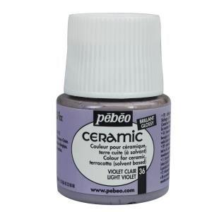 Peinture ceramic violet clair 45ml pebeo achat vente - Violet clair peinture ...