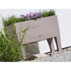 bac a fleur plastique achat vente bac a fleur plastique pas cher cdiscount. Black Bedroom Furniture Sets. Home Design Ideas
