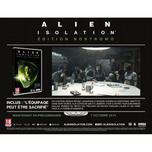 JEU PS3 Alien Isolation Edition Limitée Nostromo PS3