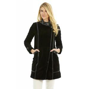veste trois quart cuir femme achat vente veste trois quart cuir femme pas cher cdiscount. Black Bedroom Furniture Sets. Home Design Ideas