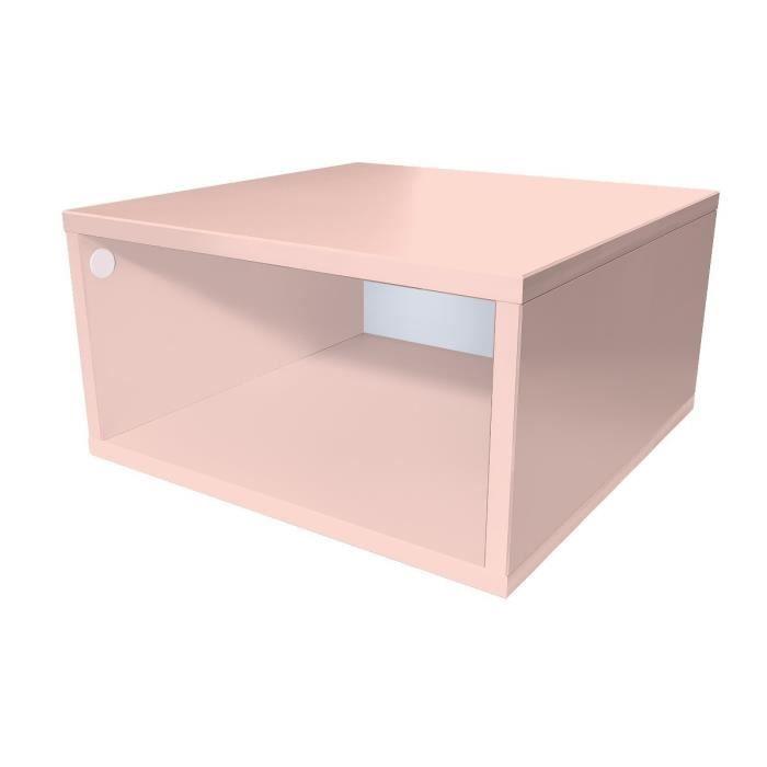 Cube de rangement bois largeur 50 cm achat vente petit for Bureau 50 cm de largeur