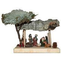 Cr che de no l en bois avec 8 santons achat vente - Fabriquer creche de noel en bois ...