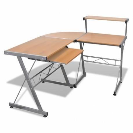 bureau d 39 angle couleur h tre achat vente bureau bureau. Black Bedroom Furniture Sets. Home Design Ideas