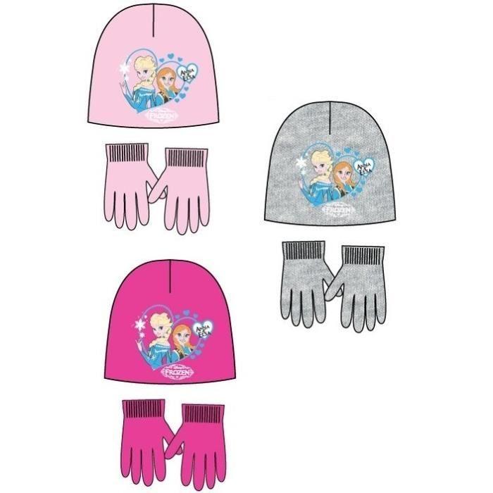 La reine des neiges bonnet et gants fushia achat vente - Gant de la reine des neiges ...