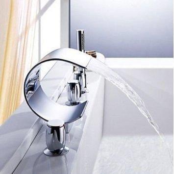 Mitigeur robinet luxe cascade baignoire baignoire achat vente robinetteri - Robinet design pas cher ...