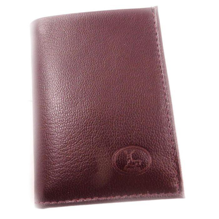 Porte cartes cuir frandi bordeaux ch vre bordeaux achat vente porte carte 3609521044370 for Achat porte interieur bordeaux
