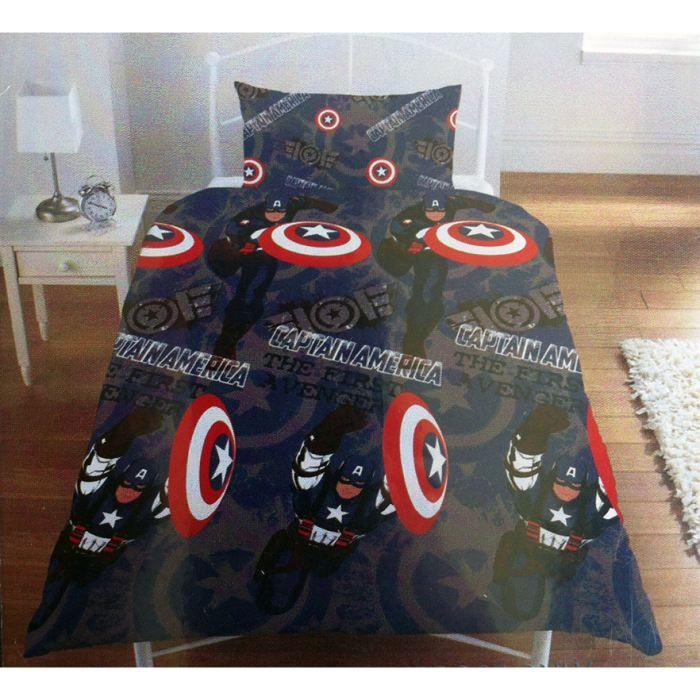 housse de couette marvel avengers team 3d parure de lit r versible pictures to pin on pinterest. Black Bedroom Furniture Sets. Home Design Ideas