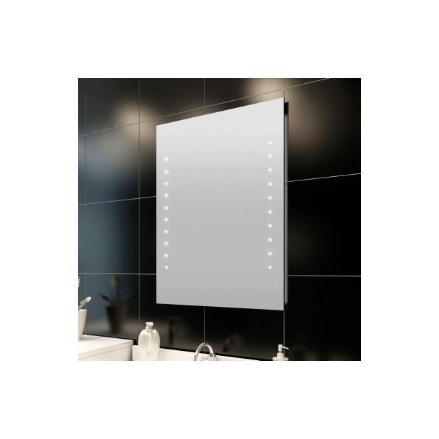 Superbe miroir de salle de bain avec clairage led 50 x 60 for Miroir de salle de bain avec eclairage
