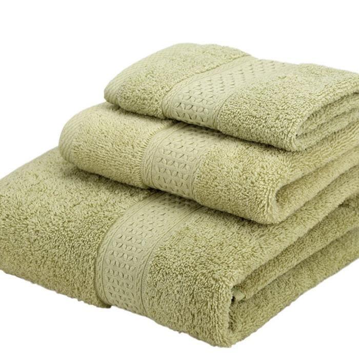 3pcs set 3 tailles serviette de bain visage essuie mains h tel accueil serviettes achat. Black Bedroom Furniture Sets. Home Design Ideas