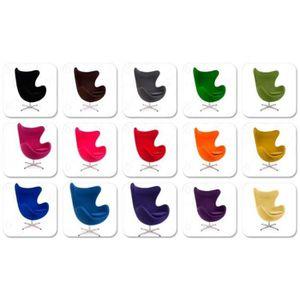 FAUTEUIL Fauteuil Egg chair réplique Arne Jacobsen, à bascu