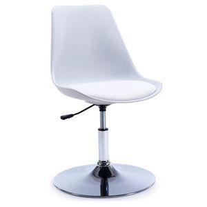 chaises bureau blanche achat vente chaises bureau blanche pas cher cdiscount. Black Bedroom Furniture Sets. Home Design Ideas