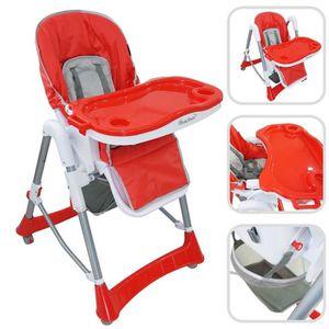CHAISE HAUTE  Chaise haute règlable pour bébé - Chaise rouge
