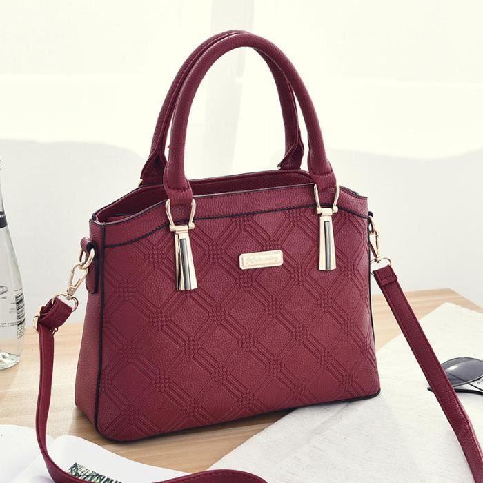 sac main femme de marque luxe cuir 2017 nouvelle mode sac bandouliere sac cuir roux femme. Black Bedroom Furniture Sets. Home Design Ideas