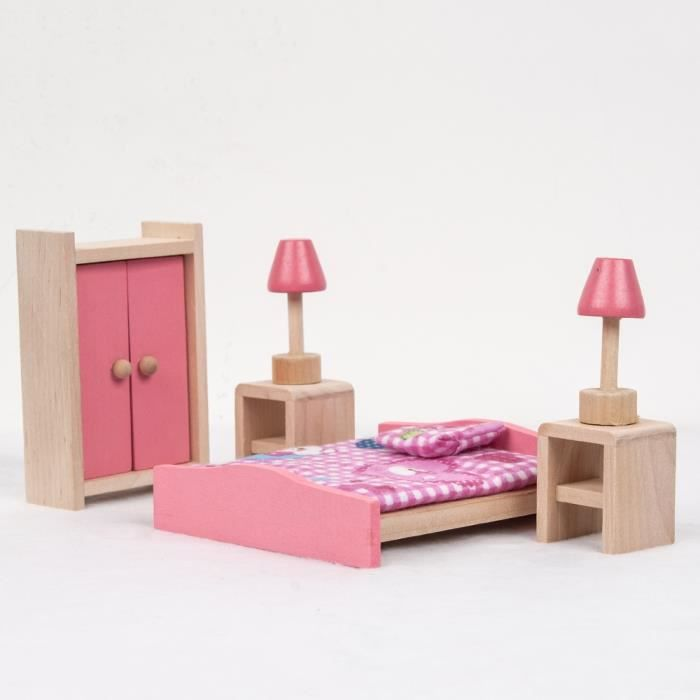 enfants jouets meubles en bois maison de poup es maison. Black Bedroom Furniture Sets. Home Design Ideas