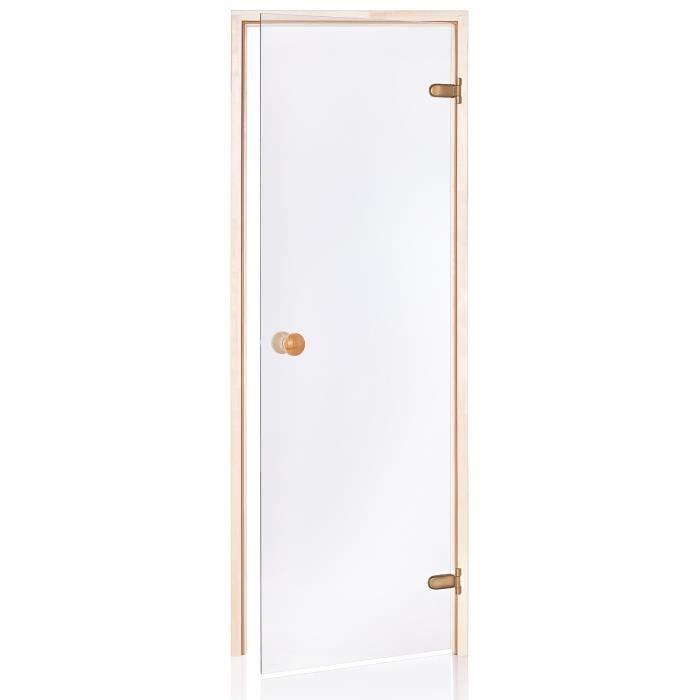 poele pour sauna standart porte de sauna 70x200 couleur du verre transparent achat vente. Black Bedroom Furniture Sets. Home Design Ideas