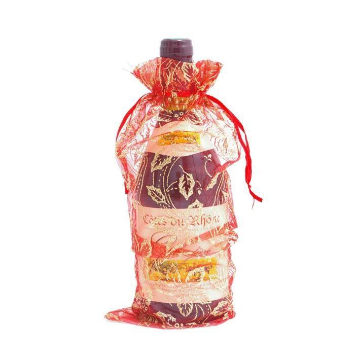 bouteille de vin sac cadeau couleur rouge achat vente cache bouteille bouteille de vin. Black Bedroom Furniture Sets. Home Design Ideas