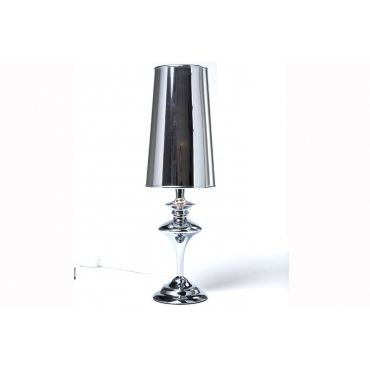 Lampe poser m tal baroque chrom e achat vente lampe for Lampe a poser baroque