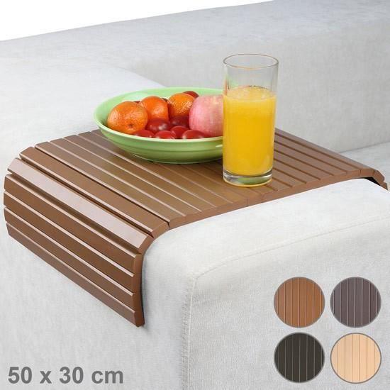 Tablette pour canap 50 x 30 cm nature achat vente - Table pour canape ...