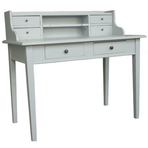 bureau marvin pin massif gris l 115 x p 60 x achat vente bureau bureau marvin pin. Black Bedroom Furniture Sets. Home Design Ideas