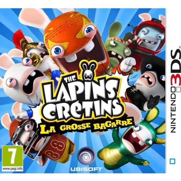 The lapins cr tins la grosse bagarre jeu 3ds achat vente jeu 3ds the lapins cr tins la - Jeux lapin cretain gratuit ...