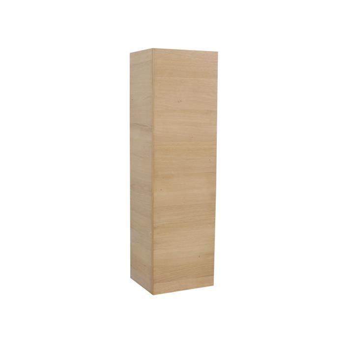 Lux se colonne de salle de bains en plaqu ch ne 120cm for Colonne salle de bain chene